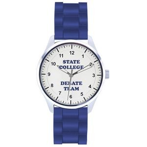 Unisex Pedre Campus Sport Watch W/ Royal Blue Polyurethane Strap