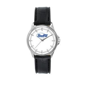 Pedre Women's Clarity Silver-Tone Watch (White Dial)