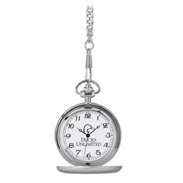 Pedre Tradition Brushed Silver Tone Pocket Watch