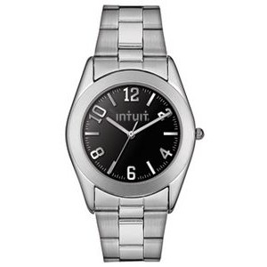 Men's Pedre Warwick Stainless Steel Bracelet Watch W Black Dial