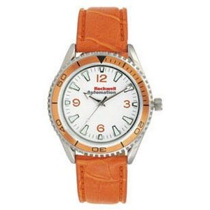 Pedre Unisex Liberty Watch W/ Orange Matte Finish Crocodile Grain Strap