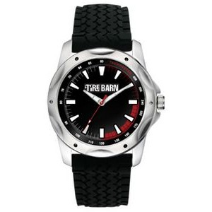 Men's Pedre Turbo Black Rubber Strap Watch