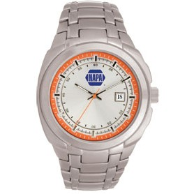 Men's Pedre Monterey Silver Watch (Orange Inner Ring)