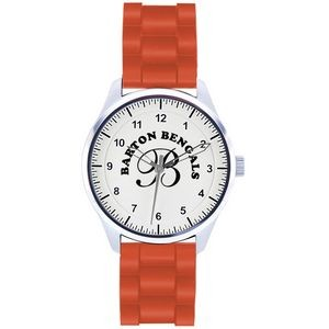 Unisex Pedre Campus Sport Watch W/ Orange Polyurethane Strap