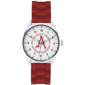 Unisex Pedre Campus Sport Watch W/ Red Polyurethane Strap