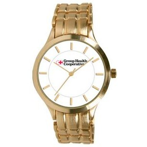 Men's Pedre Midas Gold-tone Bracelet Watch (White Dial)