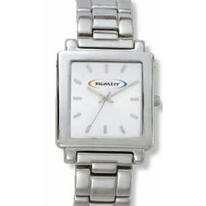 Men's Pedre Dynasty Metal White Dial Watch W/ Stainless Steel Bracelet