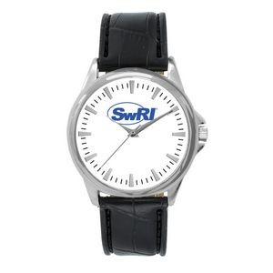 Pedre Men's Clarity Silver-Tone Watch (White Dial)