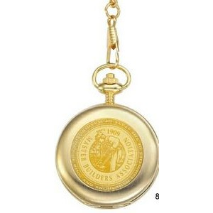 Pedre Unisex Medallion Gold-Tone Pocket Watch
