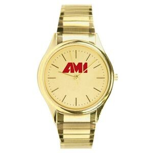 Men's Pedre Traditional Gold-Tone Bracelet Watch