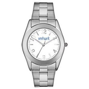 Men's Pedre Warwick Stainless Steel Bracelet Watch W/ White Dial