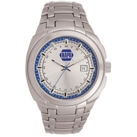 Men's Pedre Monterey Silver Watch (Blue Inner Ring)