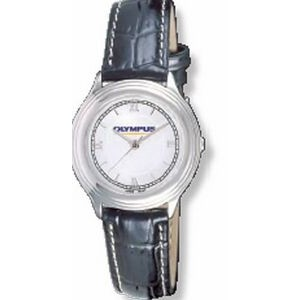 Women's Executive Watch w/ Padded Crocodile Grain Strap