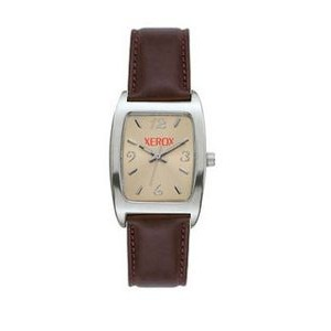 Women's Pedre Hartford Silver-Tone Watch W/ Brown Leather Strap