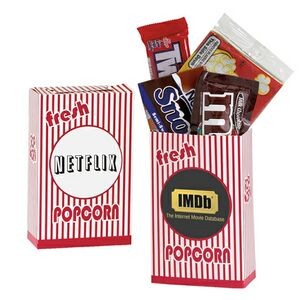 Striped Movie Snack Box w/ Assorted Candies