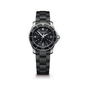 Maverick Small Black Dial/Black Rubber Strap Watch