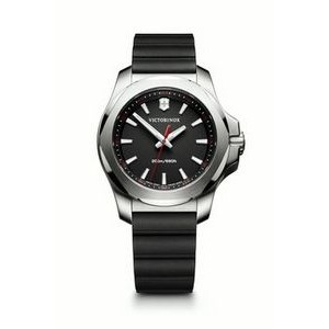Small I.N.O.X.V. Black Dial Genuine Rubber Strap Watch