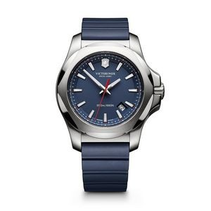 INOX Large Blue Dial /Blue Genuine Rubber Strap Watch