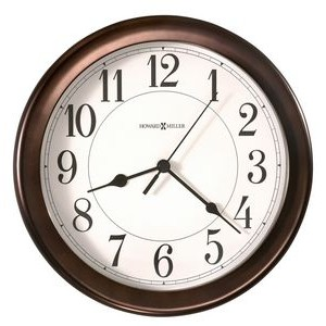 Howard Miller Virgo water resistant wall clock