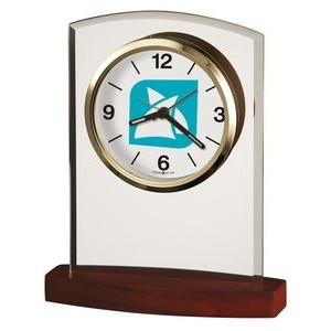 Howard Miller Marcus Curved Glass Alarm Clock (Full Color Dial)