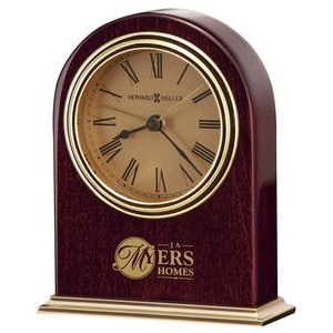 Howard Miller Parnell Rosewood Arch Alarm Clock w/ Gold Dial