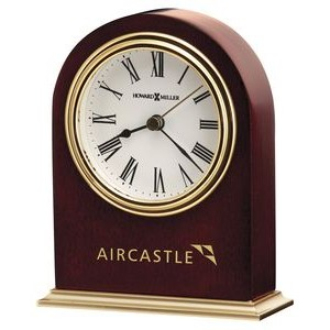 Howard Miller Craven Satin Rosewood Arch Clock w/ Metal Base