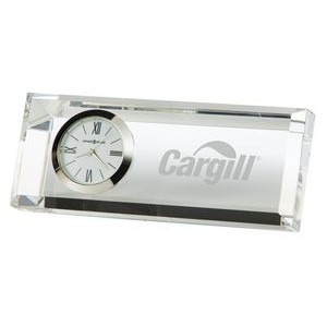 Howard Miller Prism Crystal Rectangle Award Clock