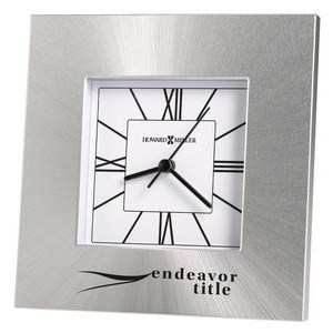 Howard Miller Kendal aluminum tabletop clock