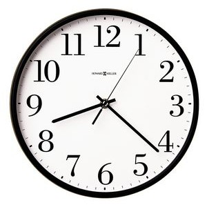 Howard Miller Office Mate round wall clock