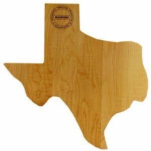 State Shaped Wood Cutting Board