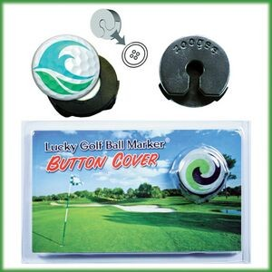 "Lucky Golf Ball Marker Button Cover Clip (3/4"" Round Domed Marker)"