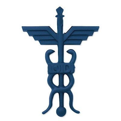 Sculptured Blasted Bronze Optometry Medical Symbols 15